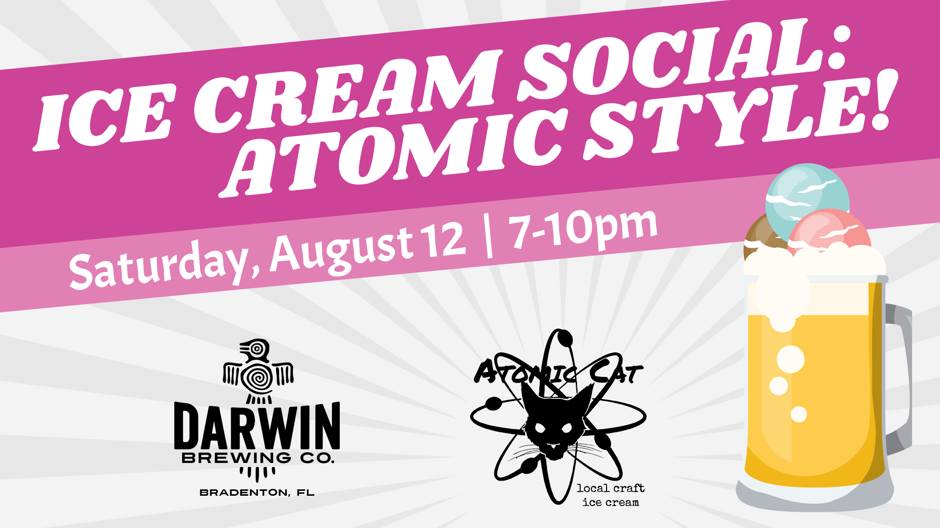 Darwin + Atomic Cat = Craft (Beer x Ice Cream) Float Explosion